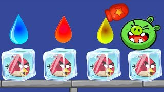Unfreeze Angry Birds - DRAWING WATER WAY TO RESCUE ANGRY BIRDS GAMEPLAY WALKTHROUGH!