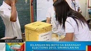 BP: Bilangan ng boto sa Barangay Elections 2013 sa Cavite, sinimulan na