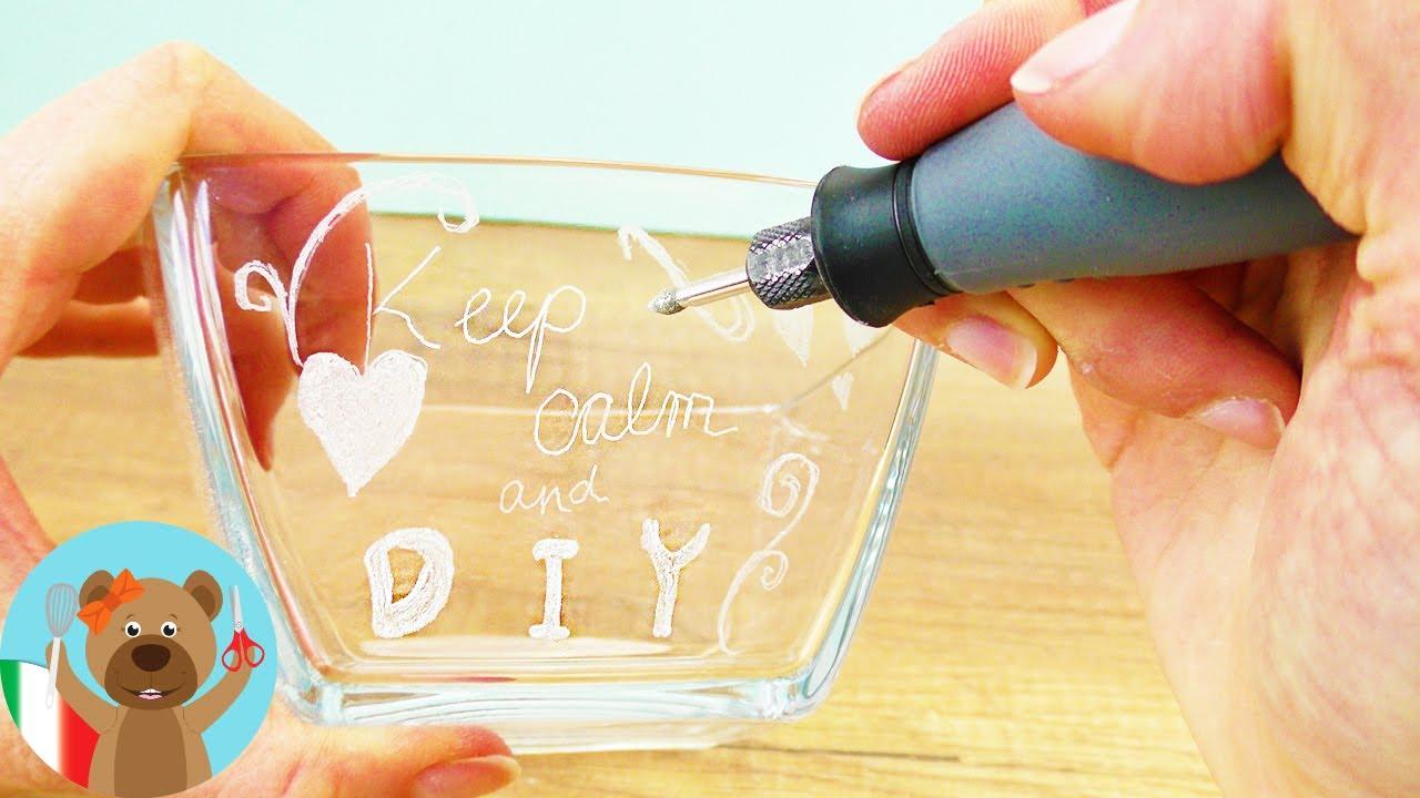 Amato idea regalo DIY - incidere un bicchiere di vetro per la migliore  MC41