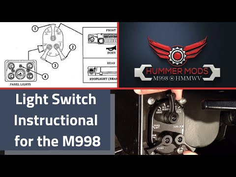 Light Switch Instructional for the M998 HMMWV Hummer