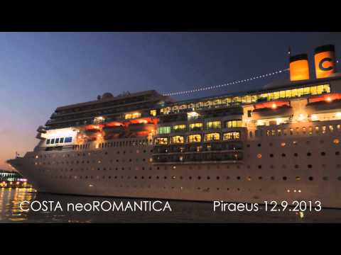 COSTA neoROMANTICA arrival at Piraeus Port