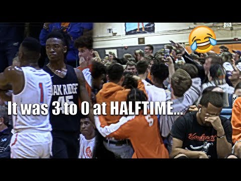 THE GAME WAS 3 0 AT HALFTIME!!! Niven Glover & Oak Ridge TAKES ON BOONE WITH SOLD OUT CROWD!