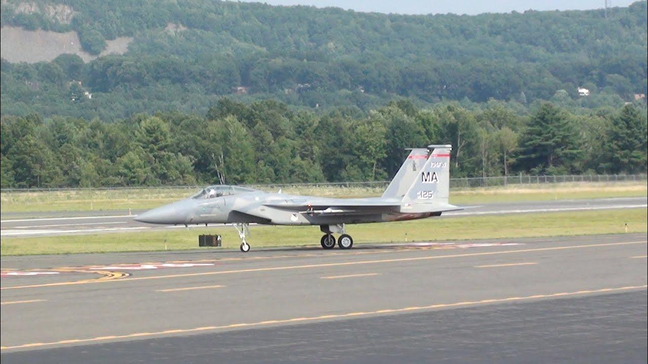F-15s at Barnes Municipal Airport - YouTube