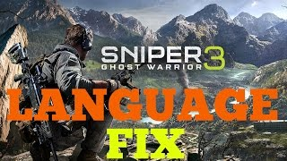 how to change language in sniper ghost warrior 3