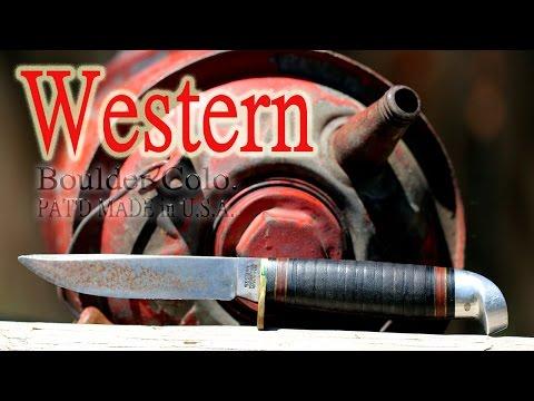 Vintage Western Boulder Colo. PAT'D Hunting Knife