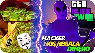 GTA 5 ONLINE 👽 HACKER NOS REGALA DINERO 💸 ALIENS VERDES VS MORADOS GAMEPLAY 3