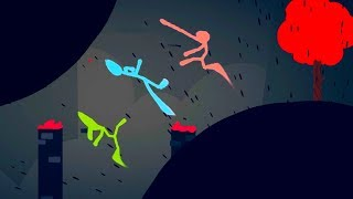 BLACK HOLES DEVOUR TWO MAPS! - Stick Fight Gameplay
