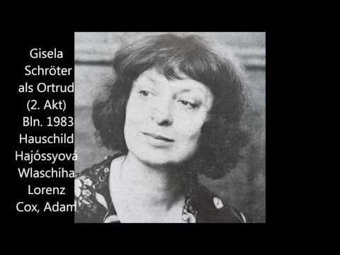 Gisela Schröter als Ortrud im 2. Akt