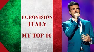 Italy in Eurovision - My Top [2000 - 2016]