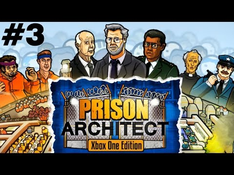 """Prison Architect (Xbox One) Part #3 """"Solitary Needed Already?!"""""""