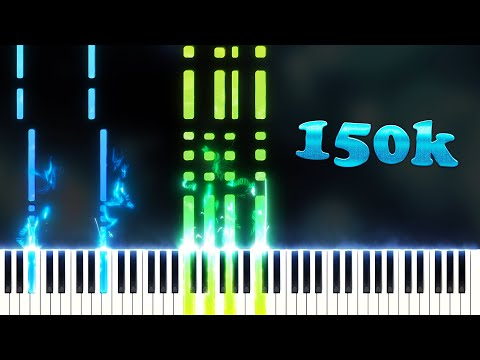 150,000 SUBSCRIBERS 150,000 NOTES (Playable Version) - Piano Tutorial