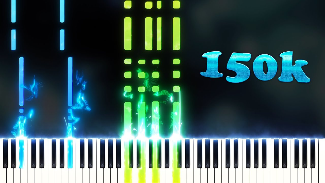 150 000 Subscribers 150 000 Notes Playable Version Piano