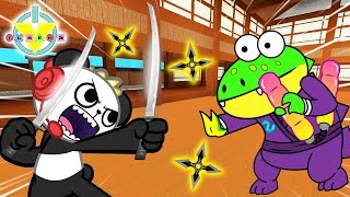 NINJA ASSASSIN SIMULATOR Roblox Ninja Masters Let's Play Combo Panda Vs Gus