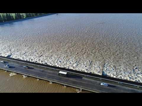 State Officials Open More Flood Gates at Sacramento Weir
