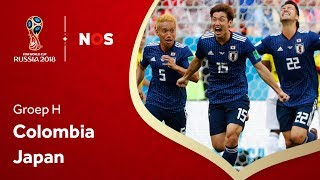 WK voetbal 2018: Samenvatting Colombia - Japan (1-2)