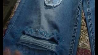 """""""РВАНЫЕ"""" ДЖИНСЫ.я делаю модные классные джинсы из обычных.видео-урок"""