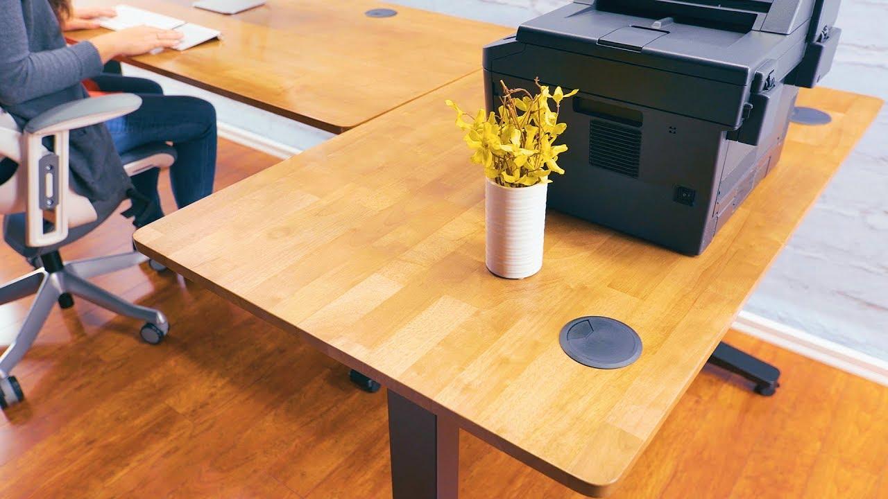 2-Leg Side Table by UPLIFT Desk