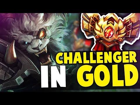 I TOOK MY RENGAR INTO GOLD! CHALLENGER RENGAR VS GOLD ELO   Unranked to Challenger
