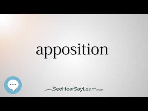 apposition    5,000 SAT Test Words and Definitions Series