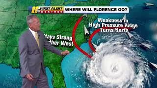 LATEST TRACK: Florence expected to become a major hurricane as it heads for Carolinas