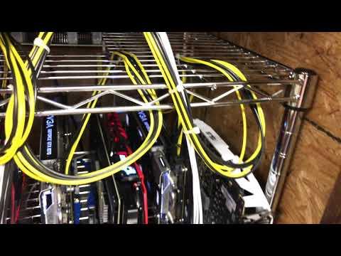 4 Rig Mining Setup In My Custom Cooling Box!