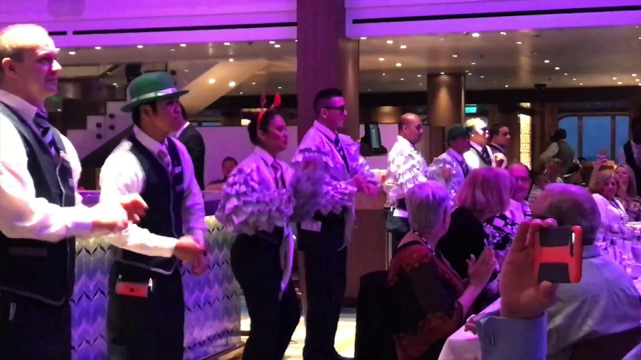 carnival vista 2017 dining room show - youtube