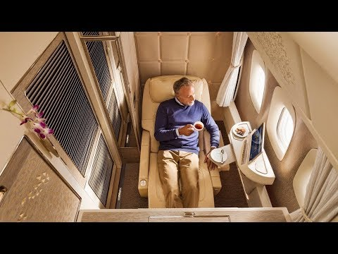 The Woody Show - Emirates Boeing 777 new First Class Dubai to Brussels