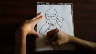 How to Draw a Graffiti Character 4 -  not mine  (from a Fan)
