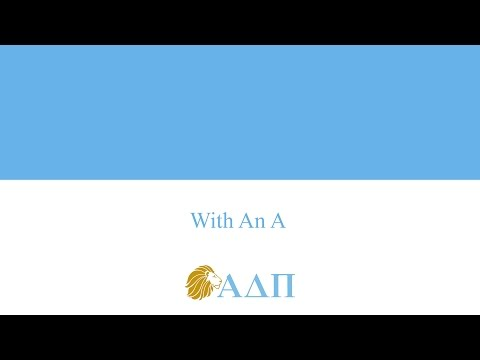 With An A Alpha Delta Pi Song