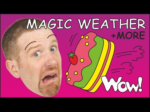Magic Picnic Weather for Kids + MORE English Stories for Children   Steve and Maggie Wow English TV