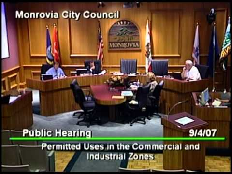 September 4, 2007 | Monrovia, CA | City Council Meeting