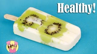 HEALTHY KIWIFRUIT POPSICLE - ICE LOLLY BLOCK POP - kids baking FROZEN TREATS