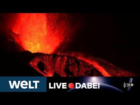 CUMBRE VIEJA BRODELT: Erdbeben erschüttern erneut Vulkangebiet auf La Palma | WELT Live dabei