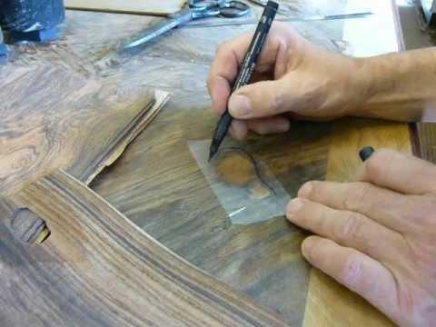 Furnieren Teil 4: Einsetzarbeiten bei Messerfurnieren, Intarsien