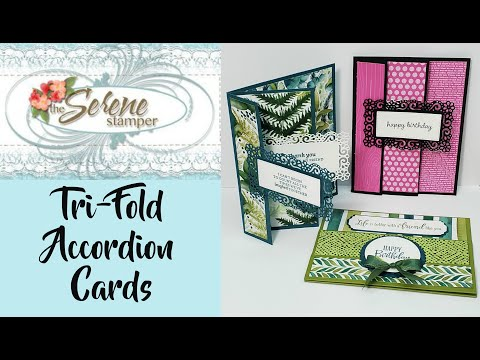TriFold Accordion Card | Three Ways!