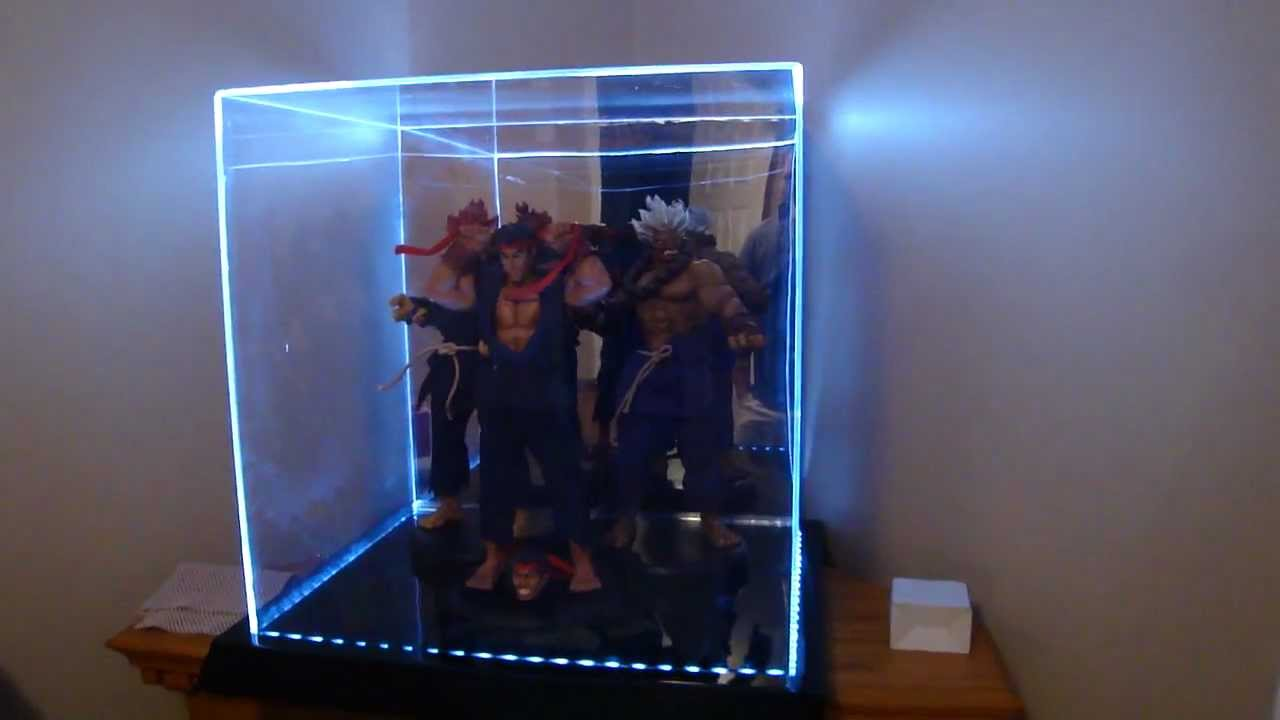 Large Acrylic 4 Color Led Light Display Case By Maybang S Collectibles