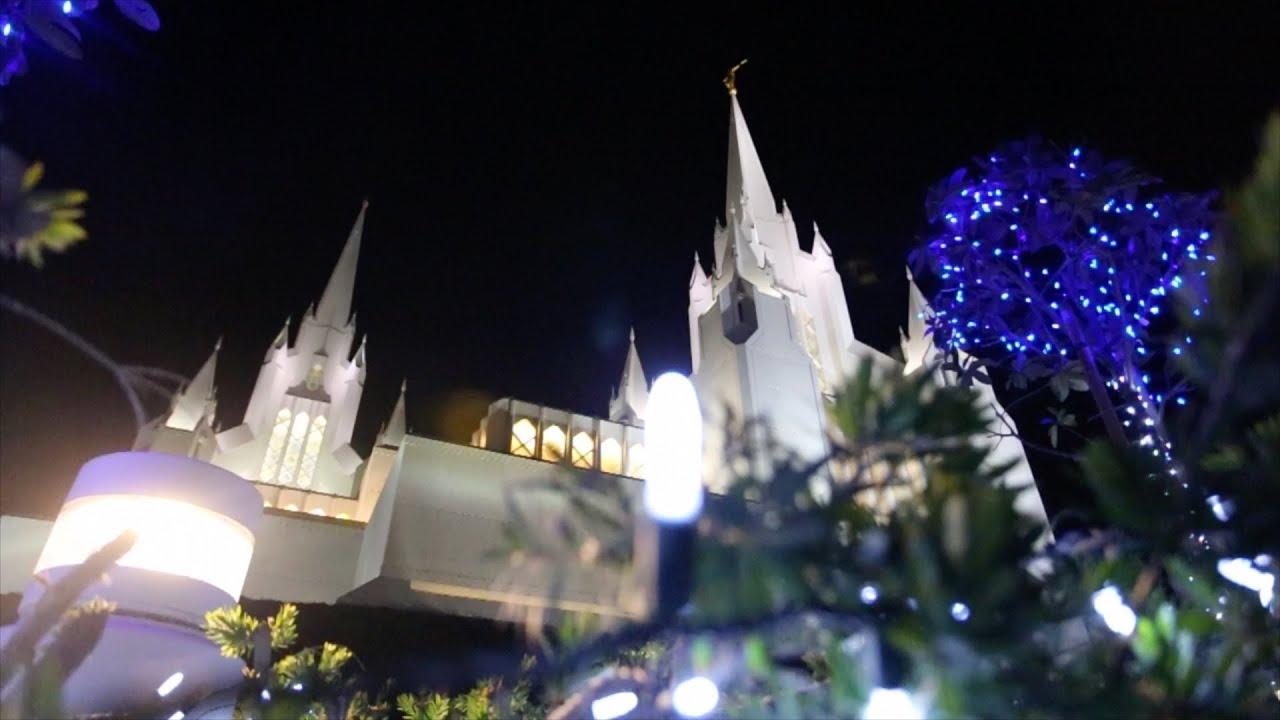 San Diego LDS Temple Christmas Lights 2015 - YouTube