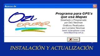GPS-OZI EXPLORER INSTALACIÓN Y ACTUALIZACIÓN  (INSTALLATION AND UPDATE) Free HD Video