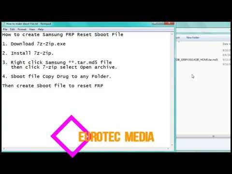 How to create Samsung Sboot File For FRP Lock reset