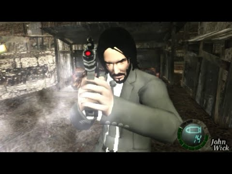 John Wick Resident Evil 4 Mod Pc Youtube