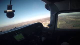 Cessna 210 Descent into Chicago (Downers Grove)