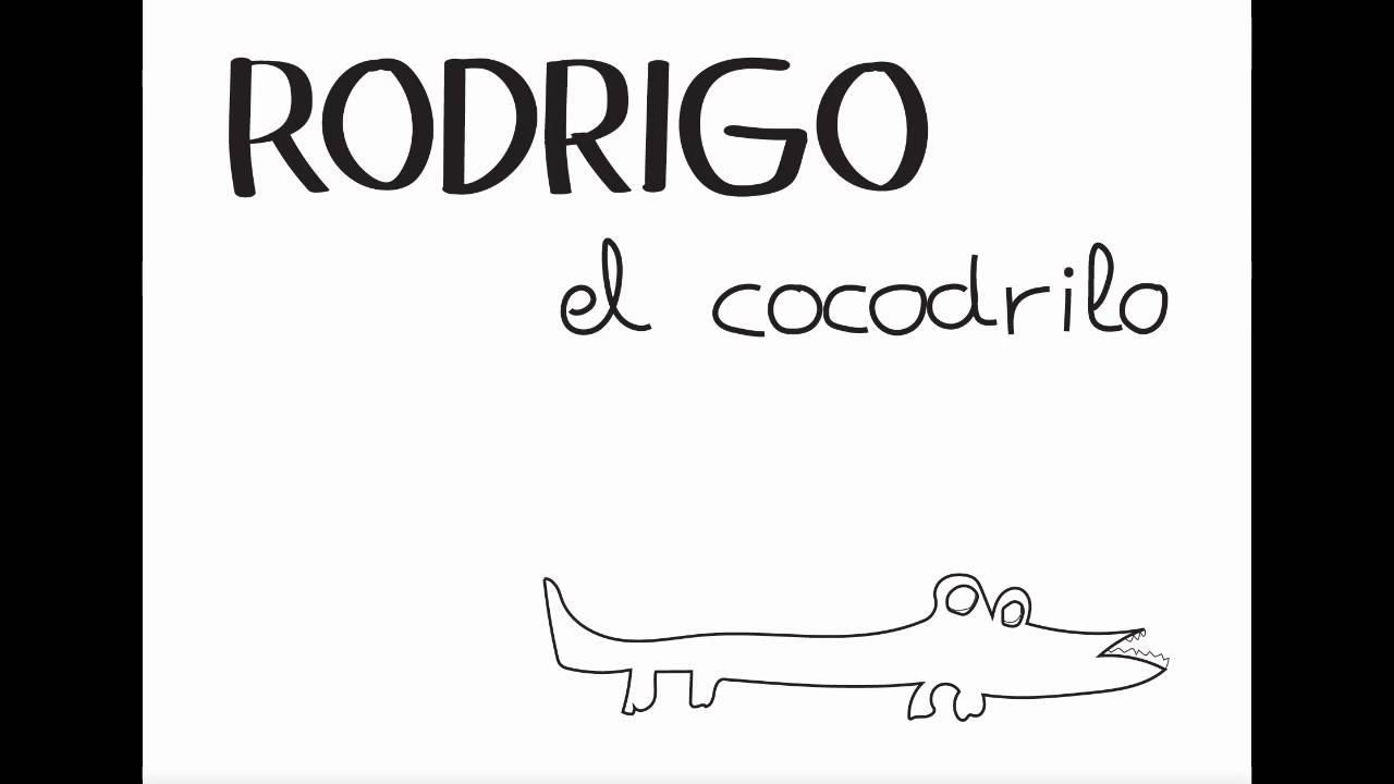 Rodrigo El Cocodrilo - cuento para colorear en español - YouTube