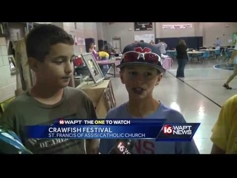 Crawfish festival held by St. Francis of Assisi Catholic Church