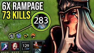 REAL WORLD RECORD..!! 283 Intelligence Steal 6x Rampage 73 Kills Silencer 7.21d   Dota 2