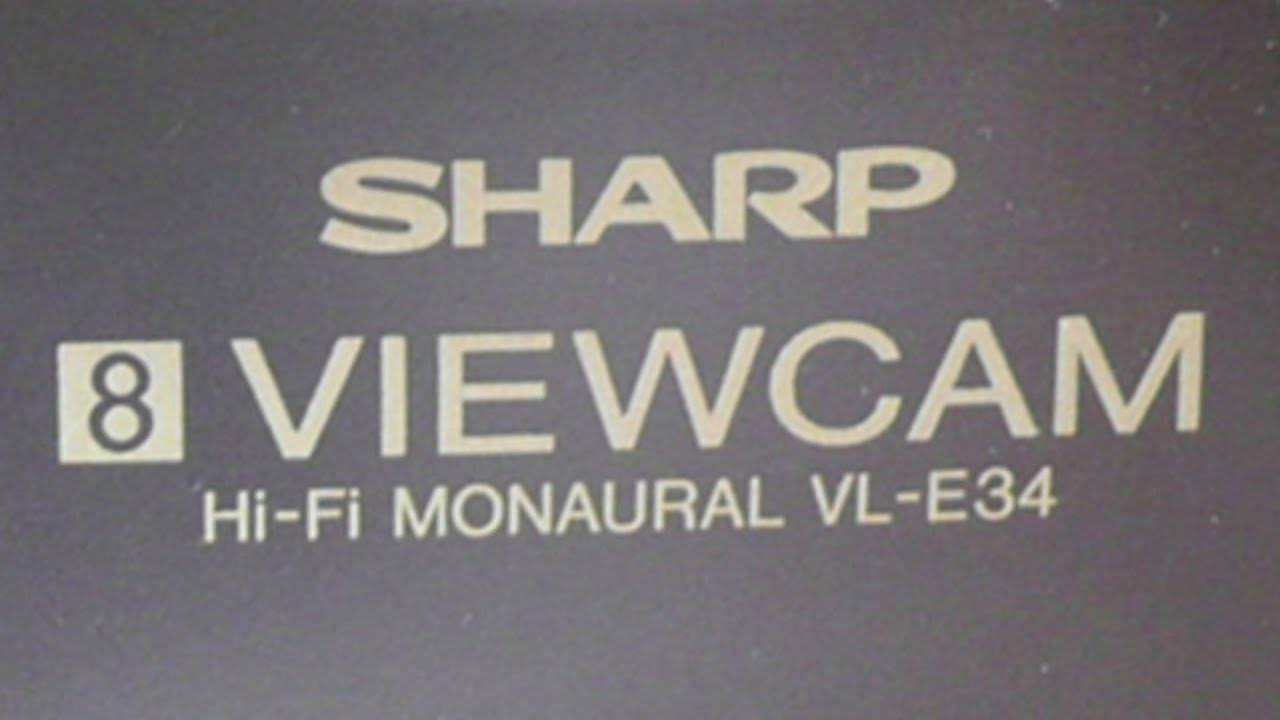 Sharp camcorder vl-e785u manual.