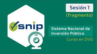 SNIP 2015 - Curso en DVD -  Sesión 1