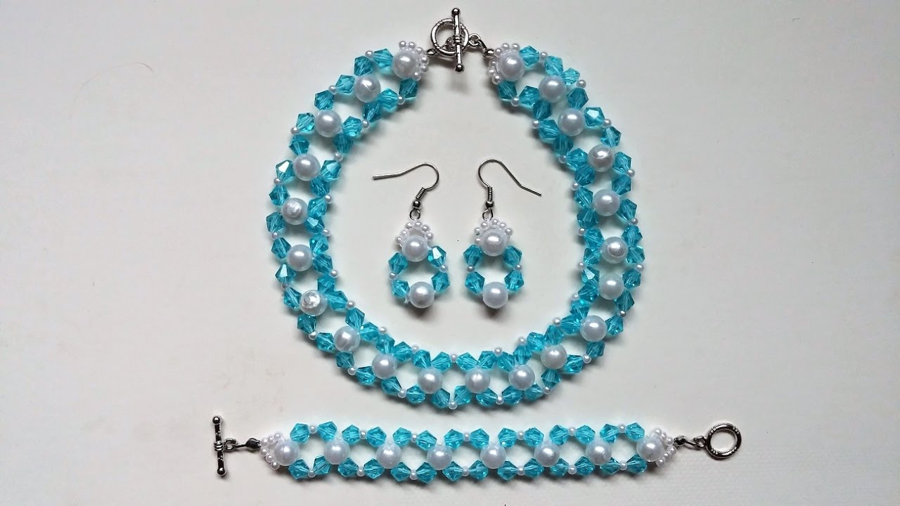Simple and elegant DIY jewelry set.Beginners beading project. - YouTube