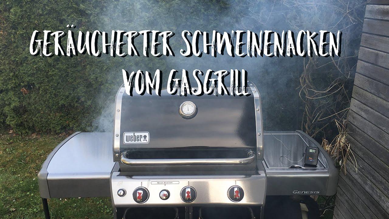 Pulled Pork Auf Weber Gasgrill : Räuchern mit dem gasgrill youtube