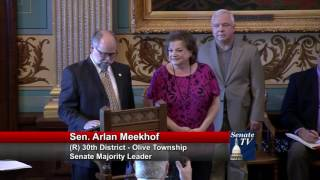 Sen. Meekhof honors Jan Thompson on her retirement