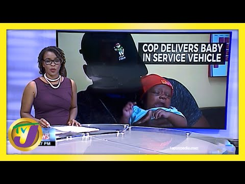 A Jamaican Police Officer Delivers Baby in Service Vehicle   TVJ News